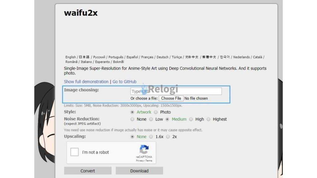 Resize Gambar Menggunakan Situs Waifu2X